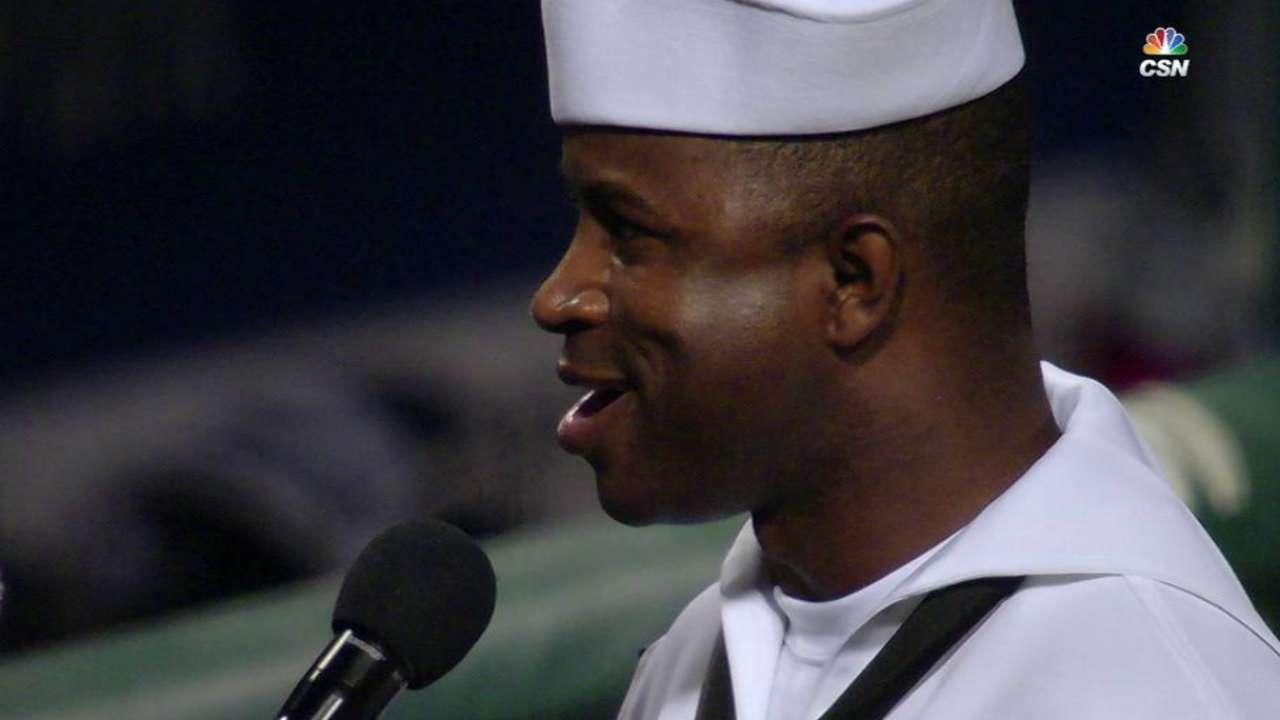 Conner sings God Bless America