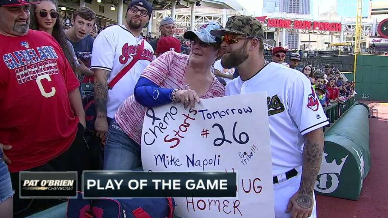 Napoli hits home run for fan with cancer