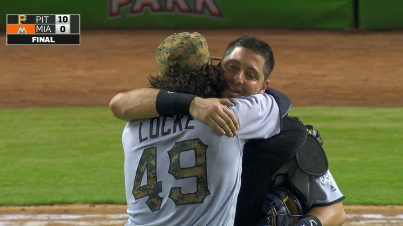Locke's three-hit shutout