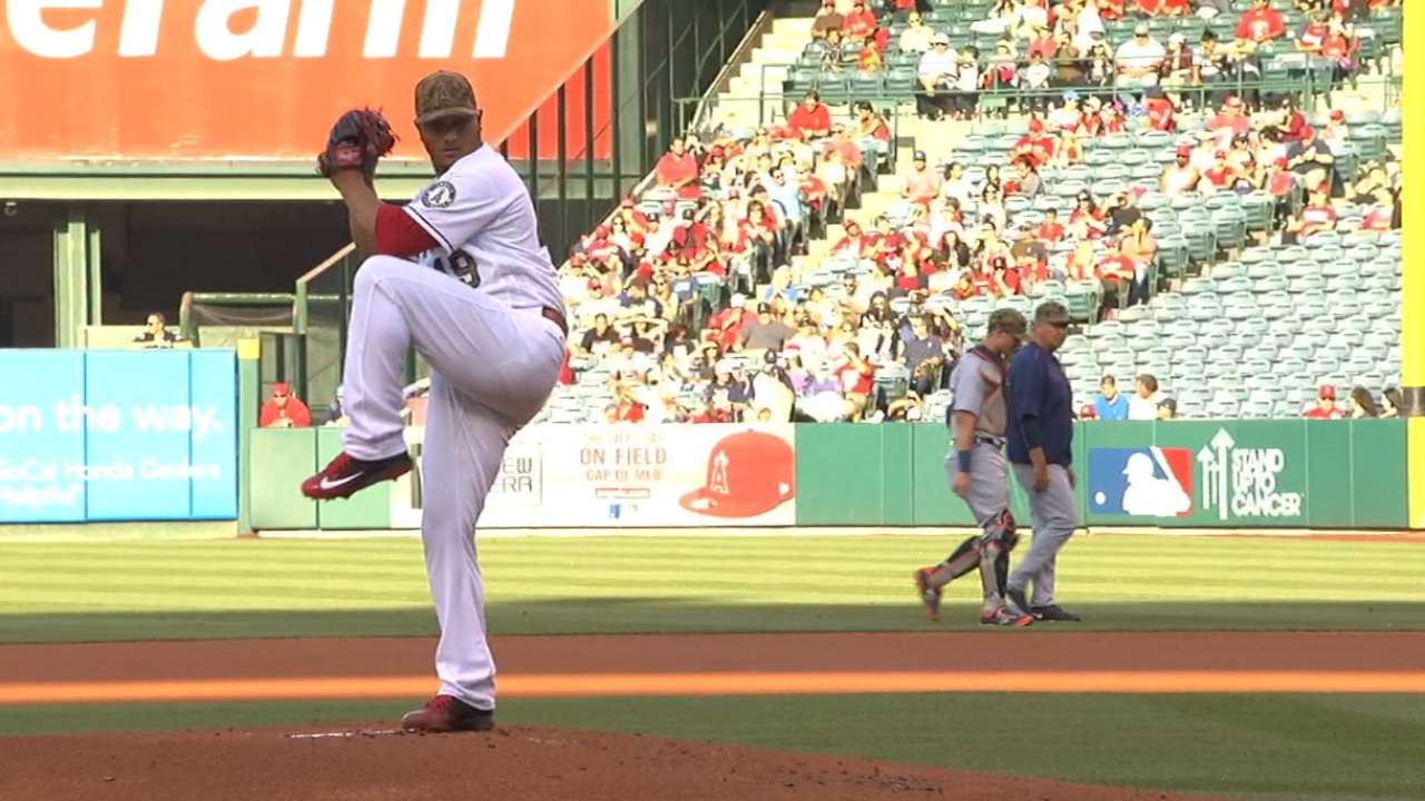 Chacin goes distance as Halos tame Tigers