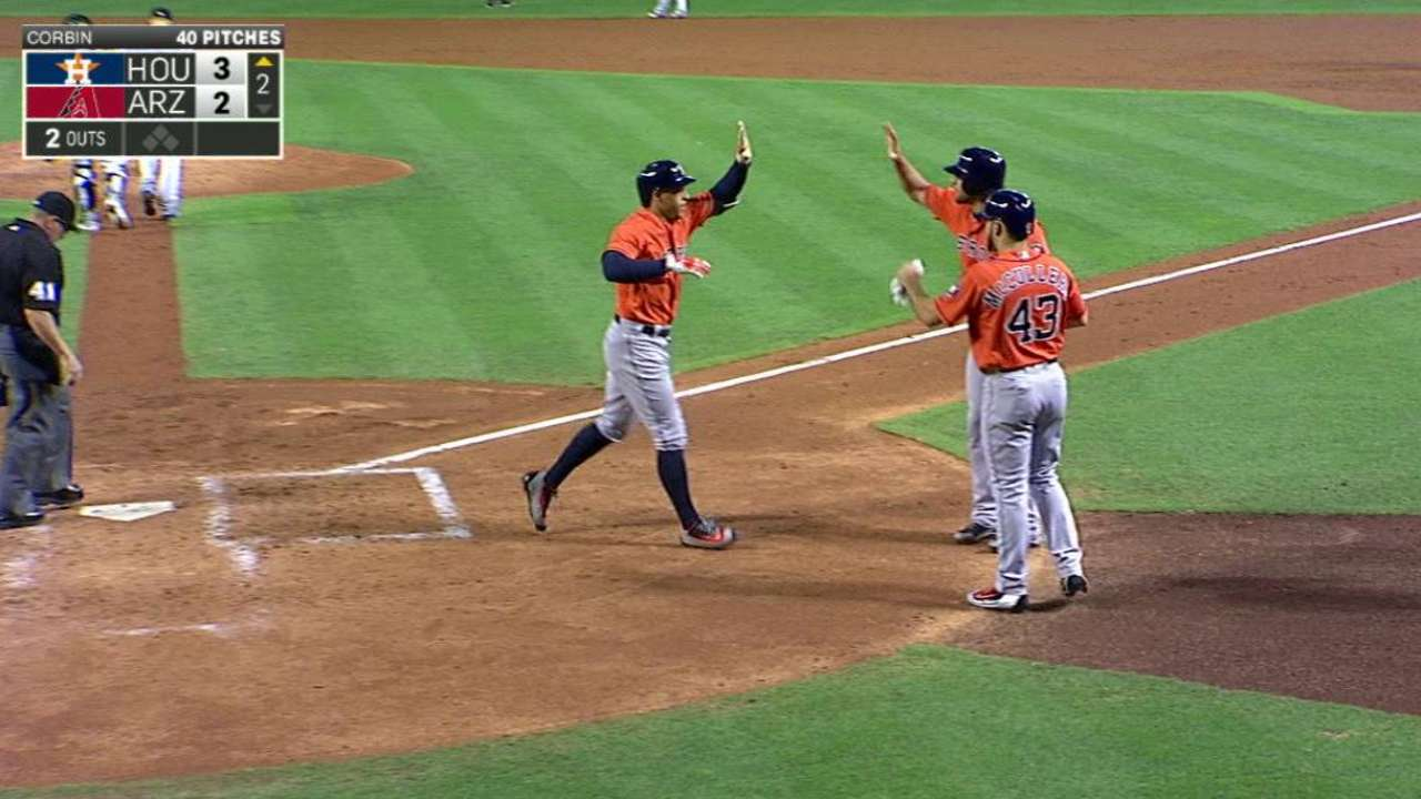 Red-hot Springer leads Astros over D-backs