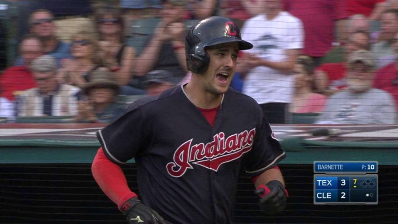 Chisenhall hoping to stay hot after first homer