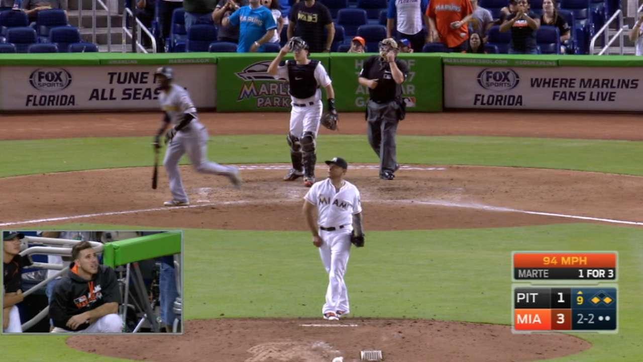 Jose makes Pirates sweat, then sweats it out