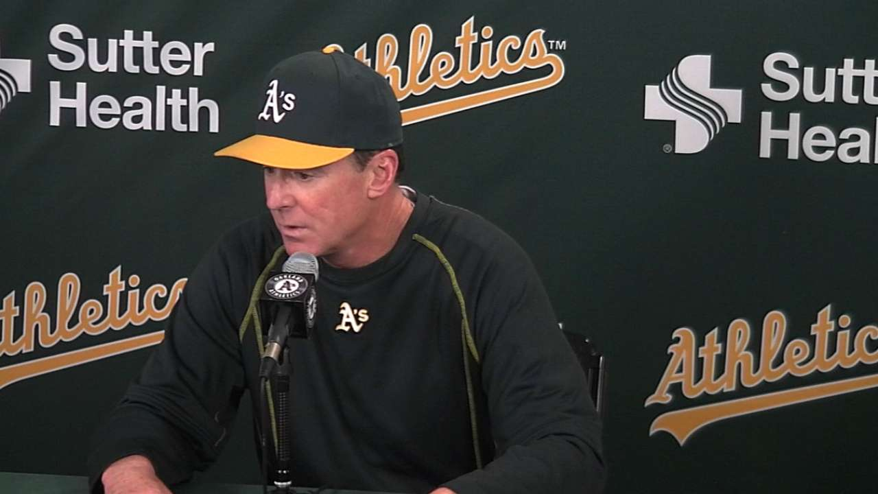 Vogt, Valencia rise up to fill void in A's lineup