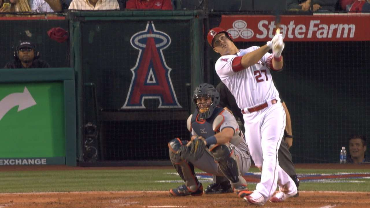 Angels hit four homers