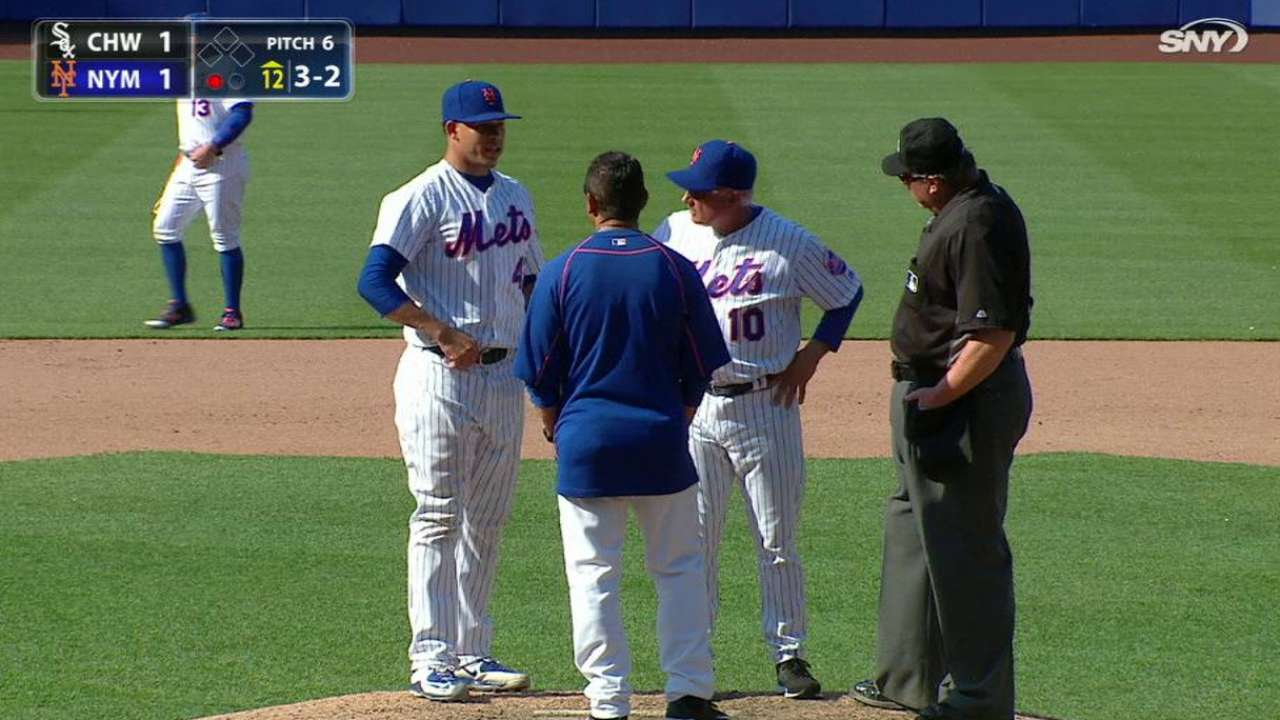 Reliever Robles day to day with ankle sprain