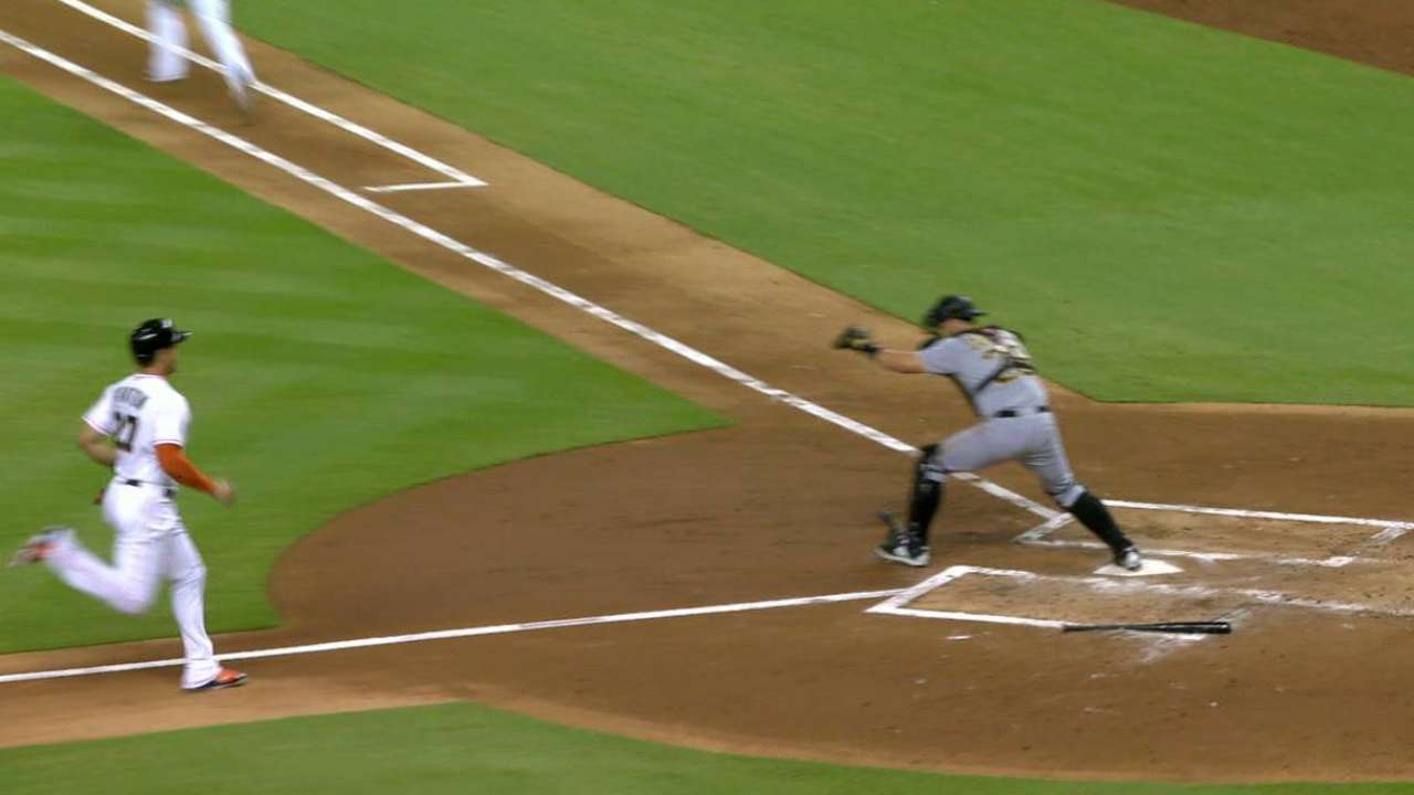 Freese gets Stanton out at home