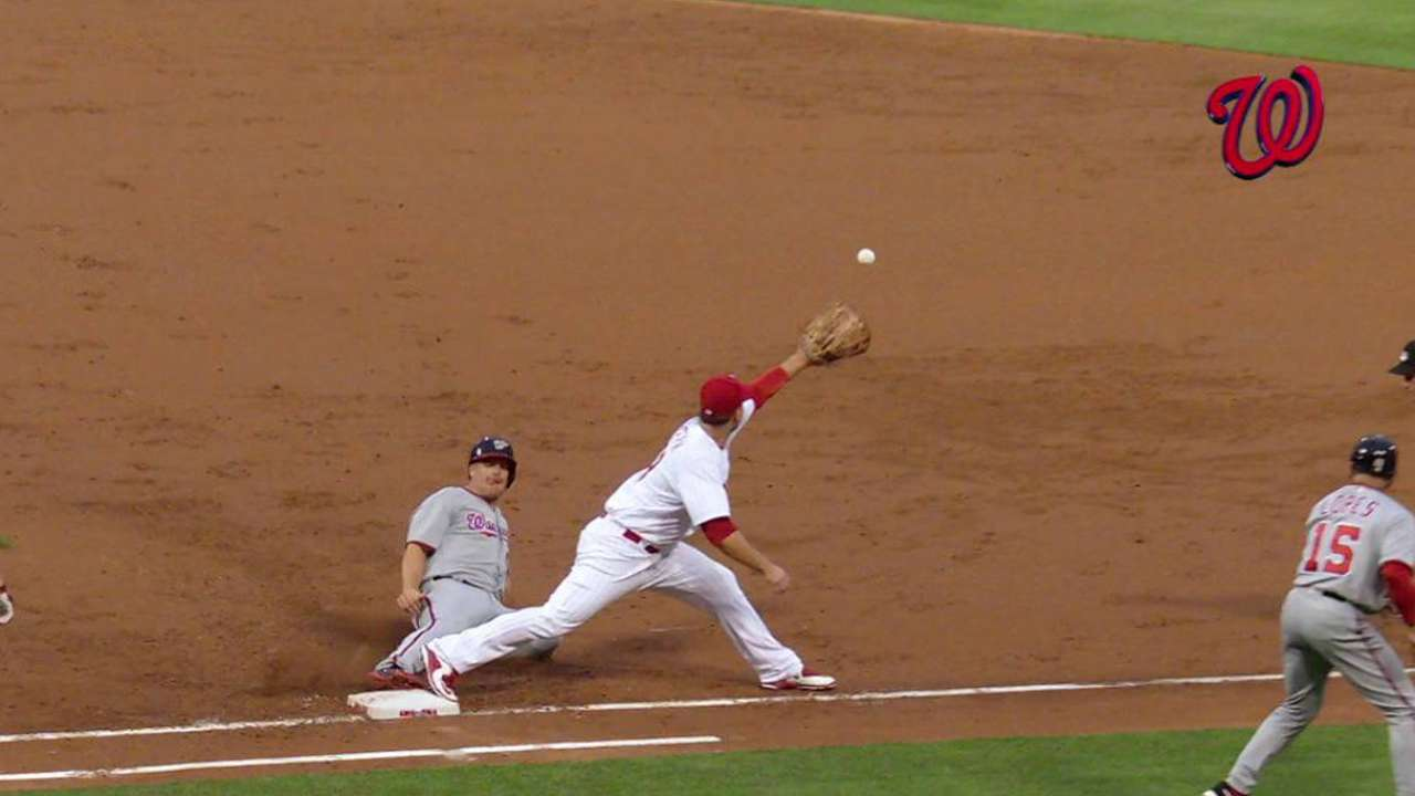 Heisey ruled safe at first