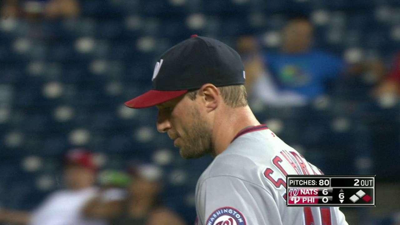 Scherzer's tenth strikeout