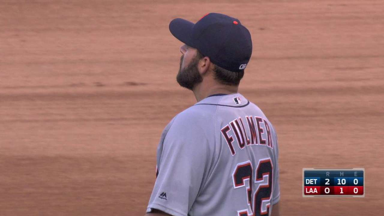Fulmer loses no-no, but bests Angels in finale