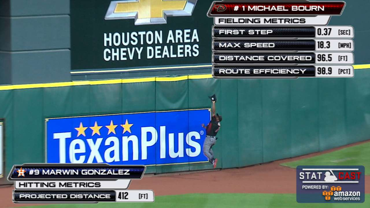 Bourn's spectacular catch shows experience