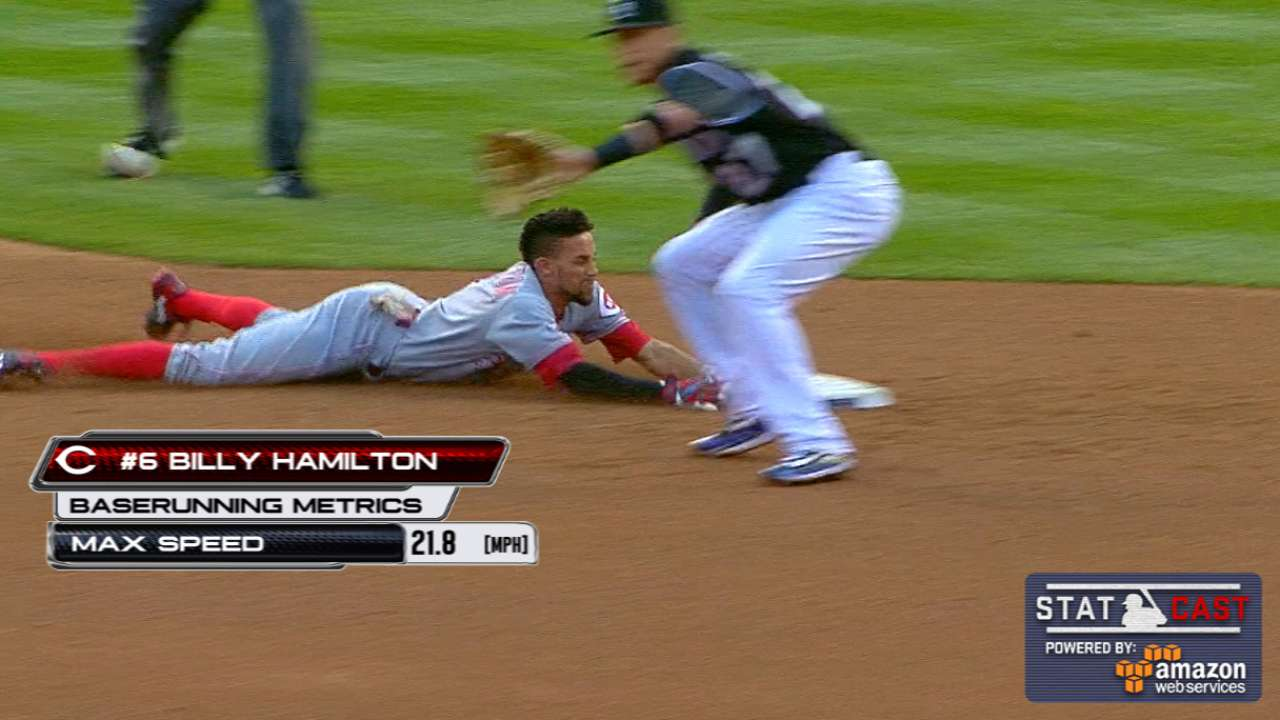 Statcast: Hamilton turns on jets