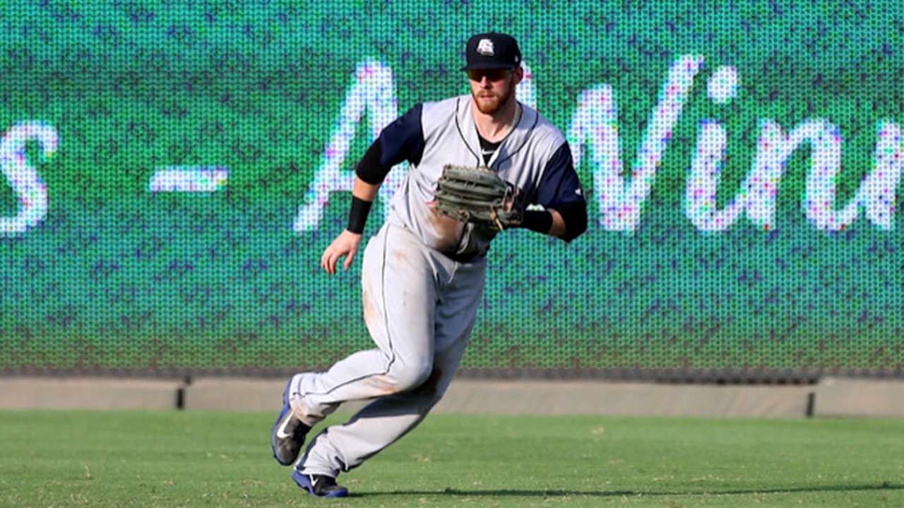 Crew recalls prospect Reed for CF boost