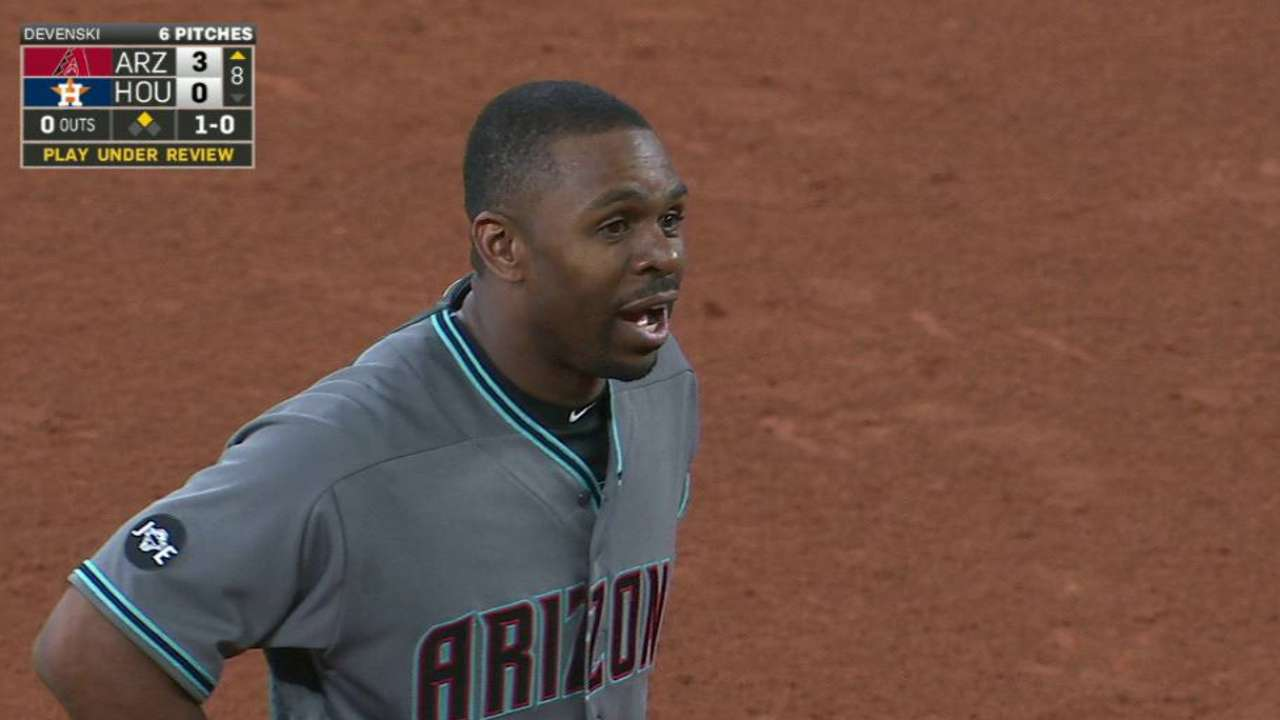 Umpires rule Bourn out at second