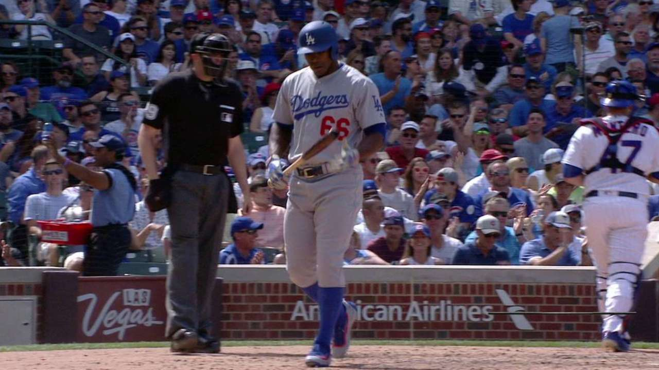 Dodgers place Puig on DL