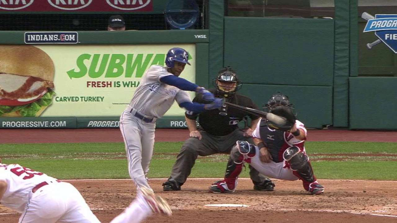 Dyson's RBI single in the 4th