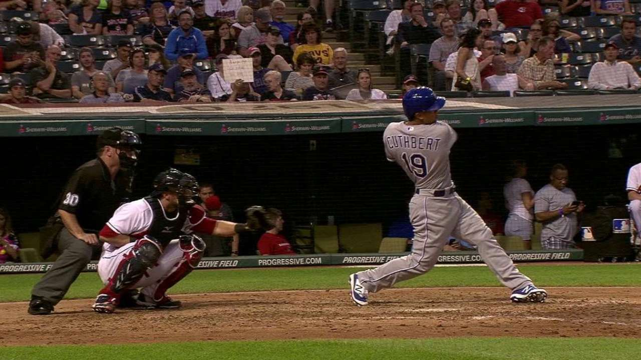 Cuthbert's solo home run