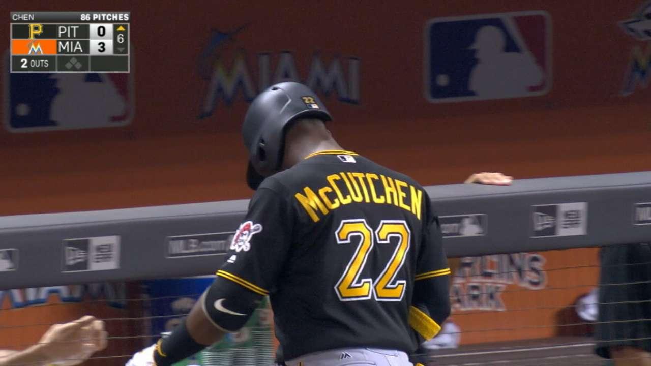 McCutchen aggravates nagging thumb injury