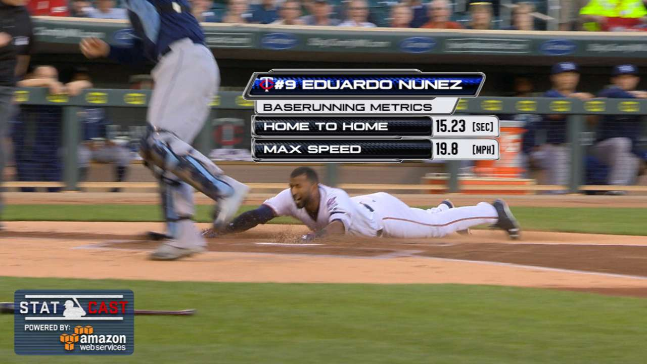 Nunez Delivers Inside The Park HR For Twins