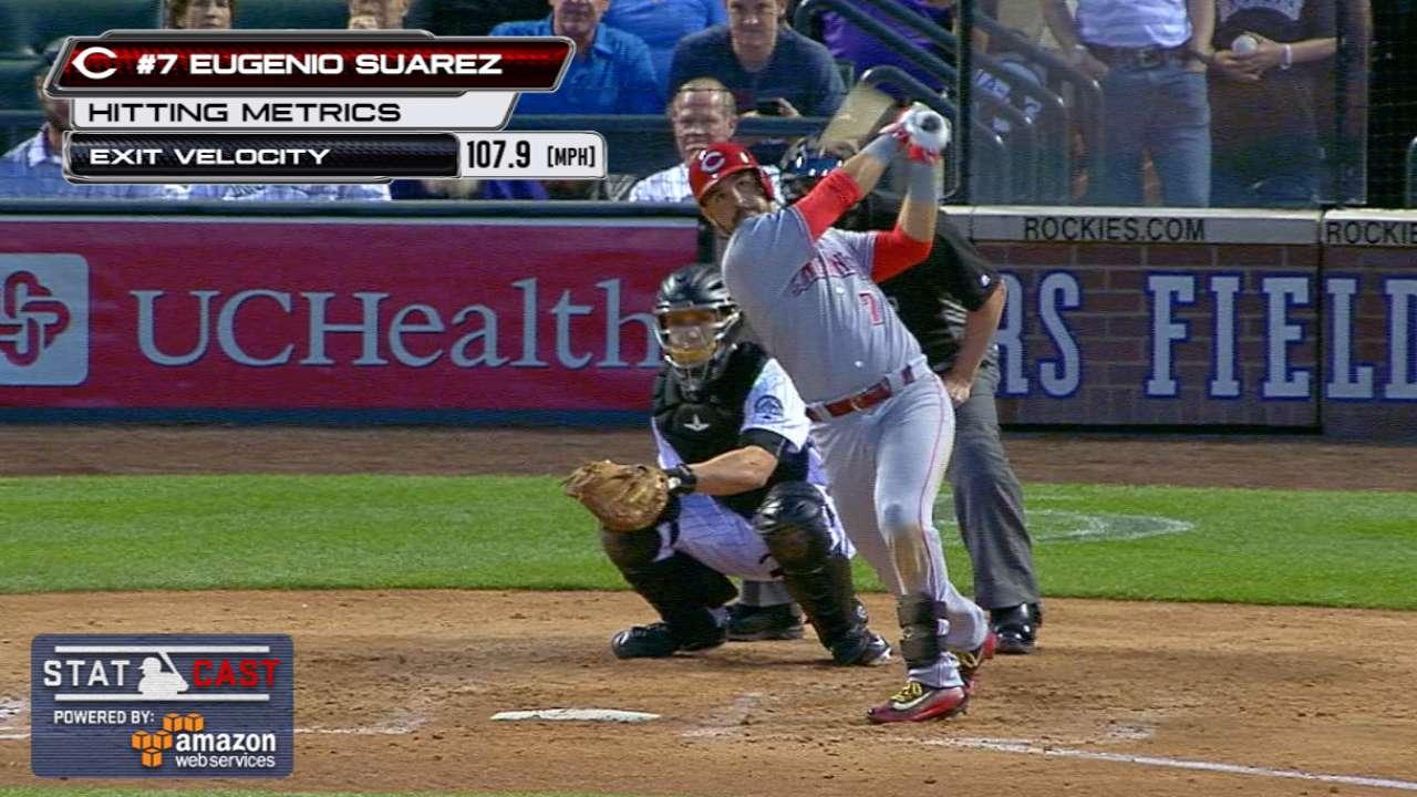 Statcast: Suarez's second homer