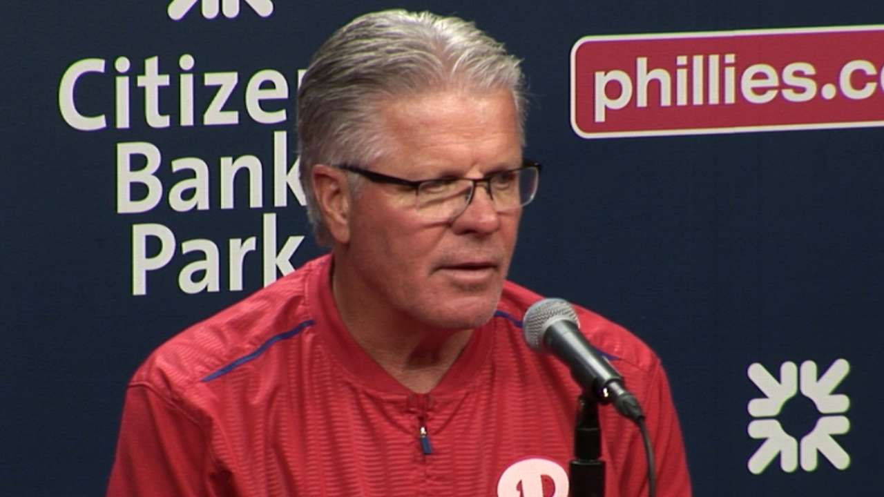 Mackanin on 4-1 loss to Brewers