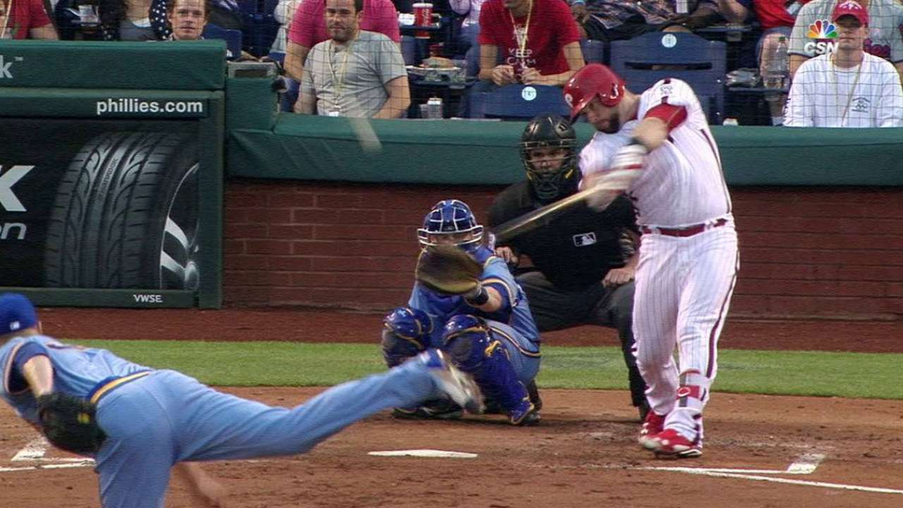 Blasts from Rupp, Blanco snap Phils' skid