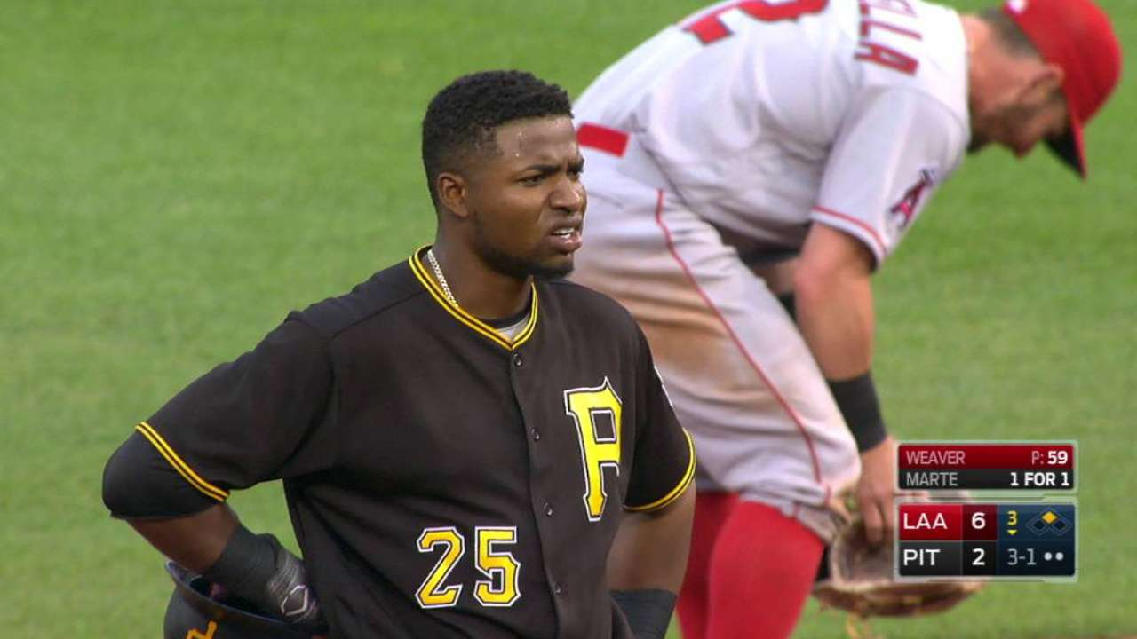 Polanco out after challenge