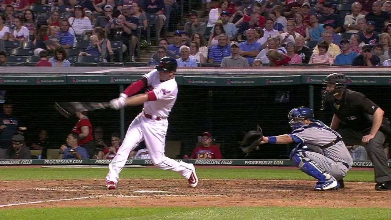 Naquin's first career homer