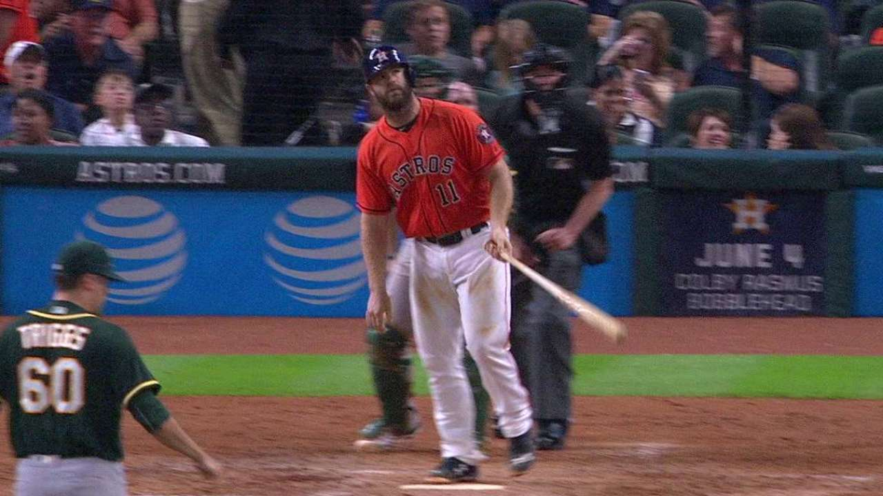 Gattis' monster two-run homer
