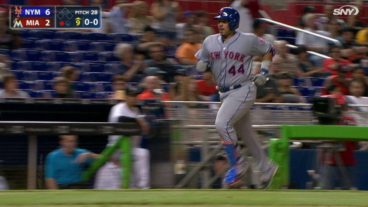 Rivera homers to left-center