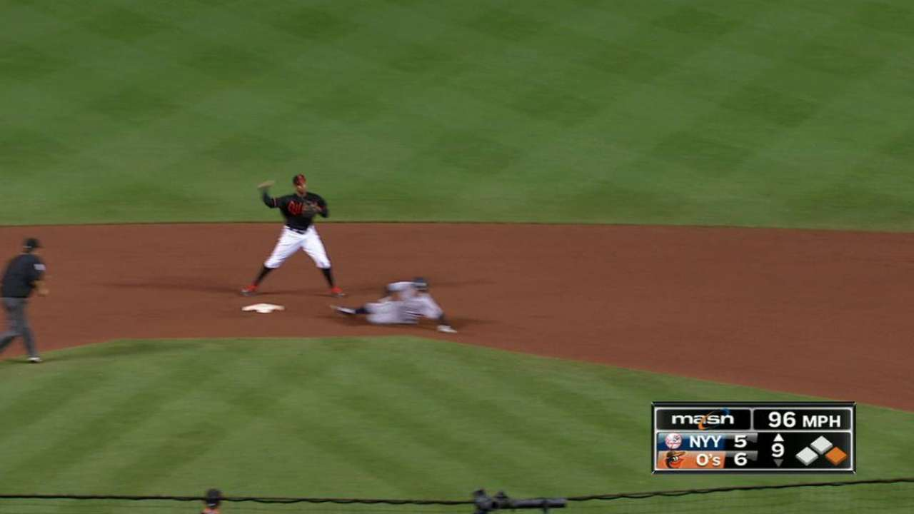 Orioles turn two to end game