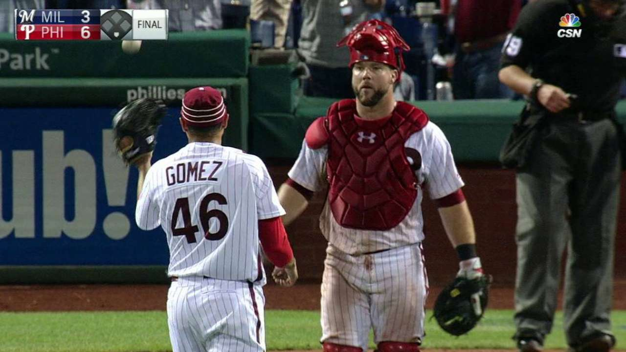 Gomez secures save