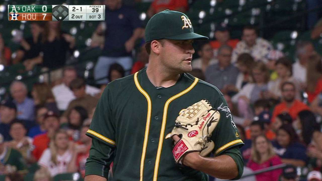 A's calling up Triggs to make first big league start