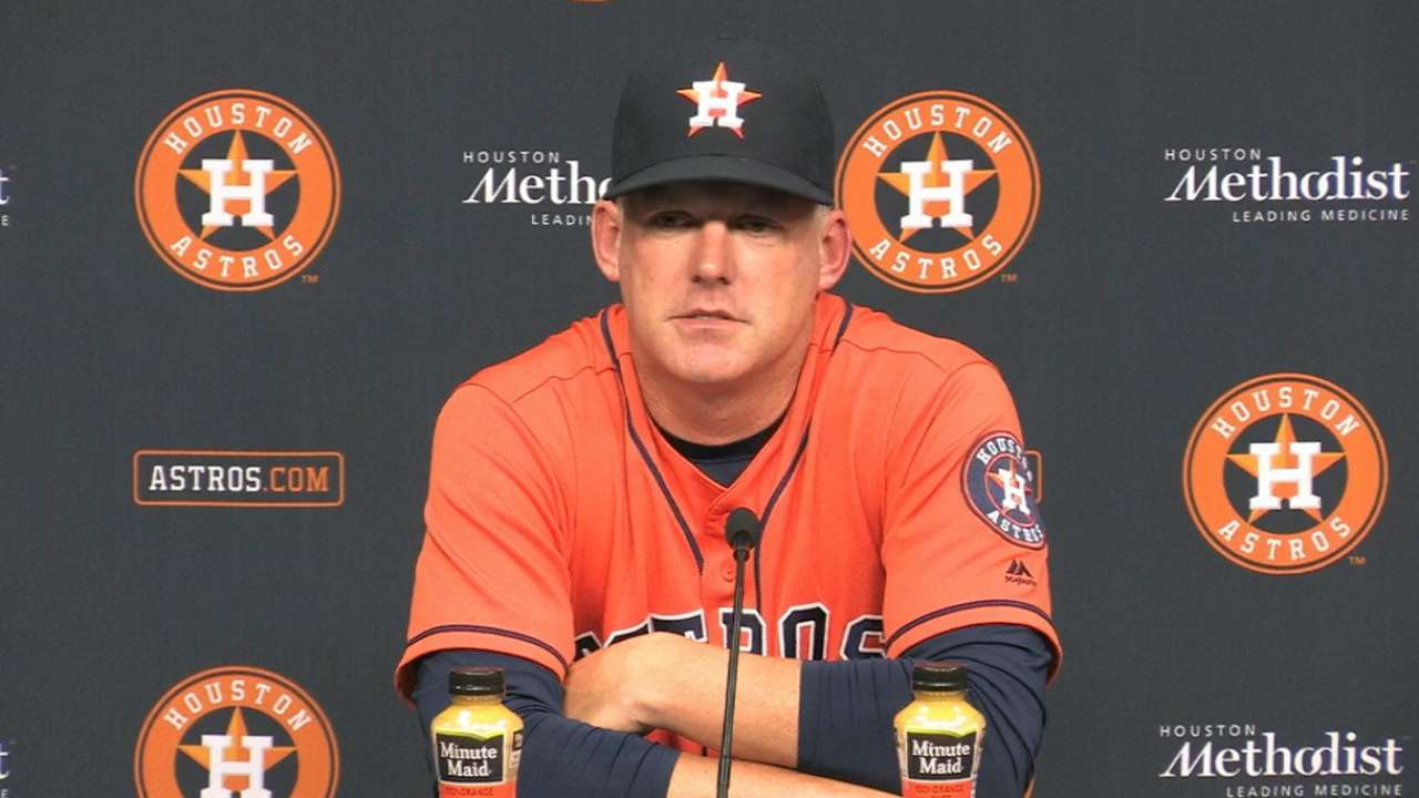 Hinch on Astros win, Fister