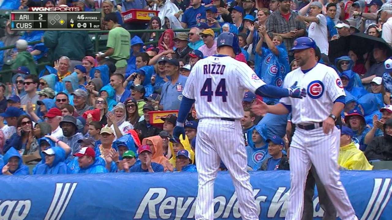 Rizzo's fly ball becomes single