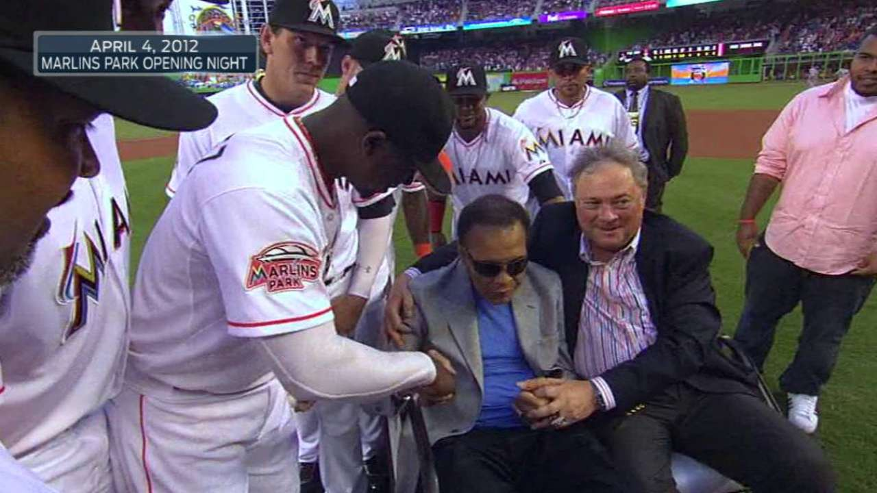 Marlins elaborate on Friday's Ali tribute