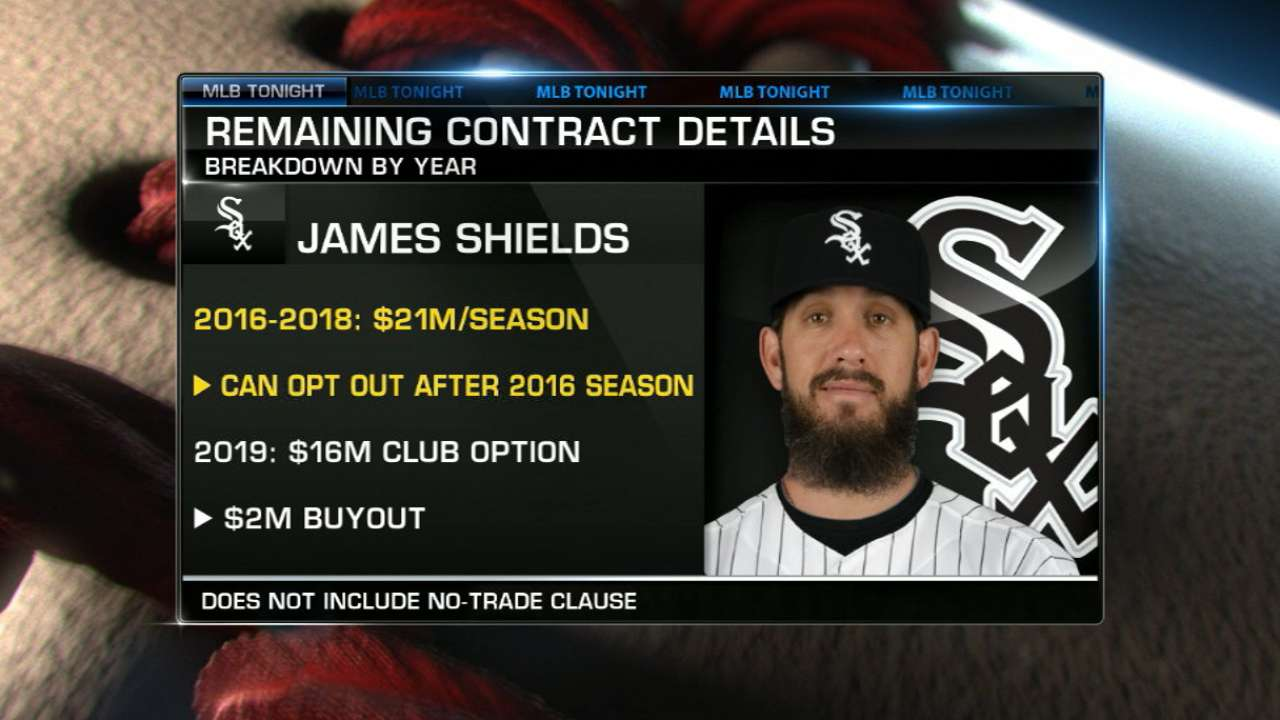Padres send Shields to White Sox