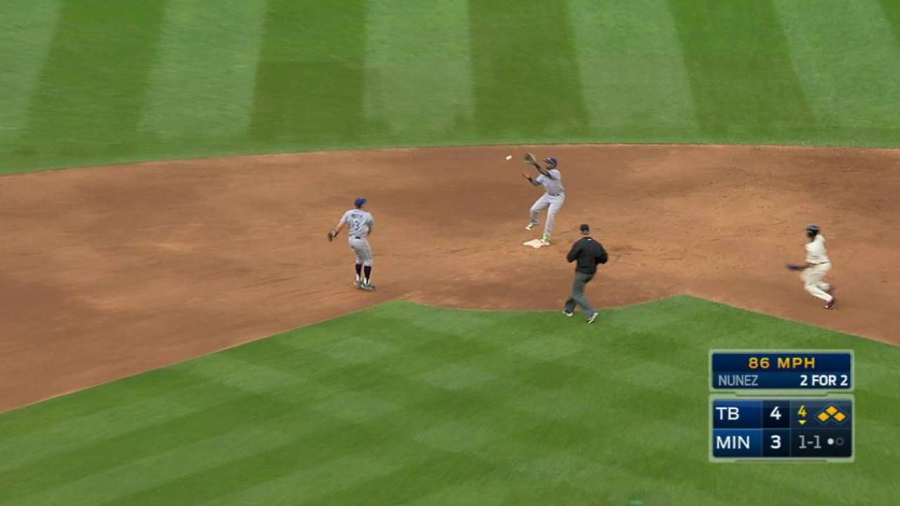 Andriese induces key double play