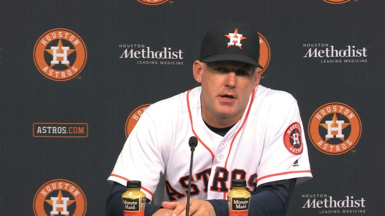 Hinch on extra inning win