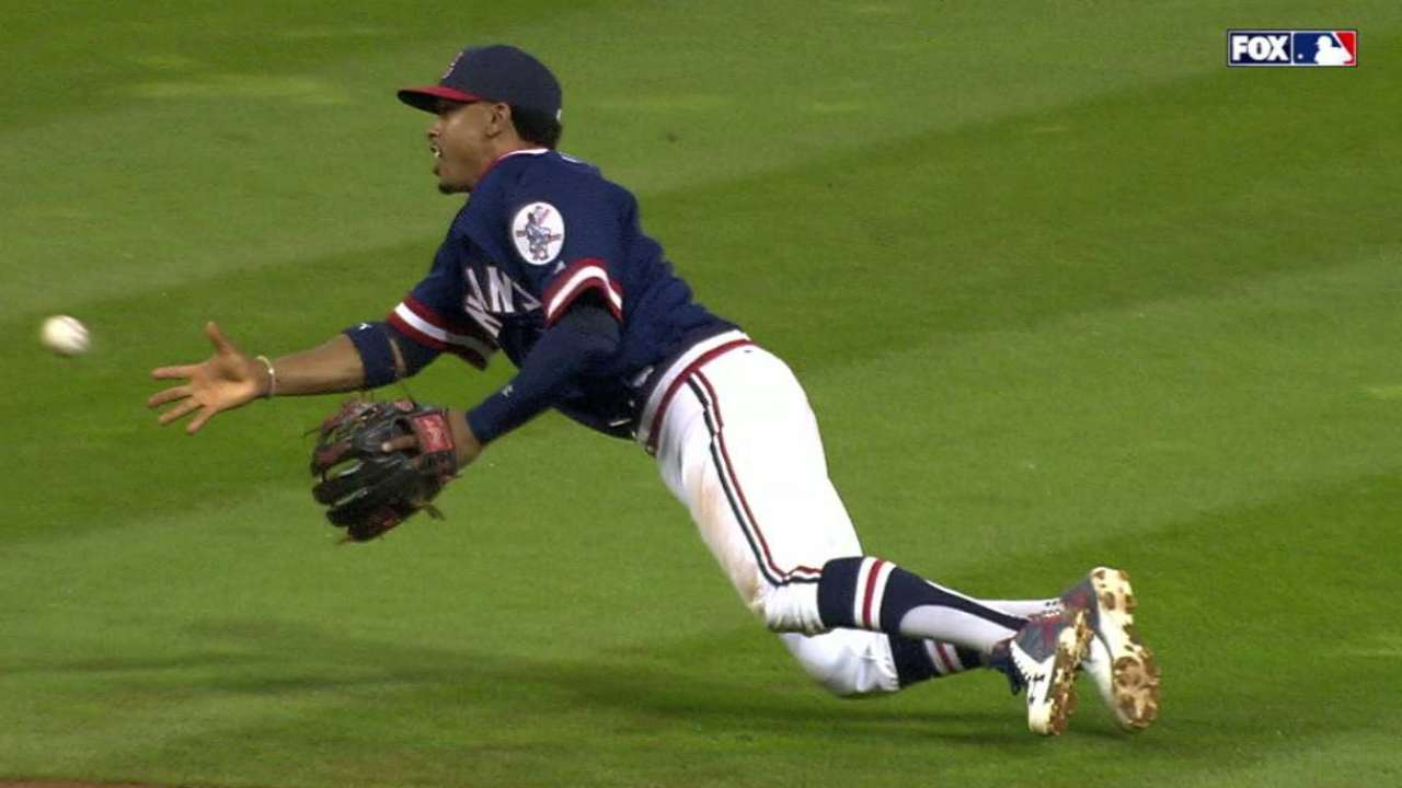 By glove and by bat: Lindor impresses again