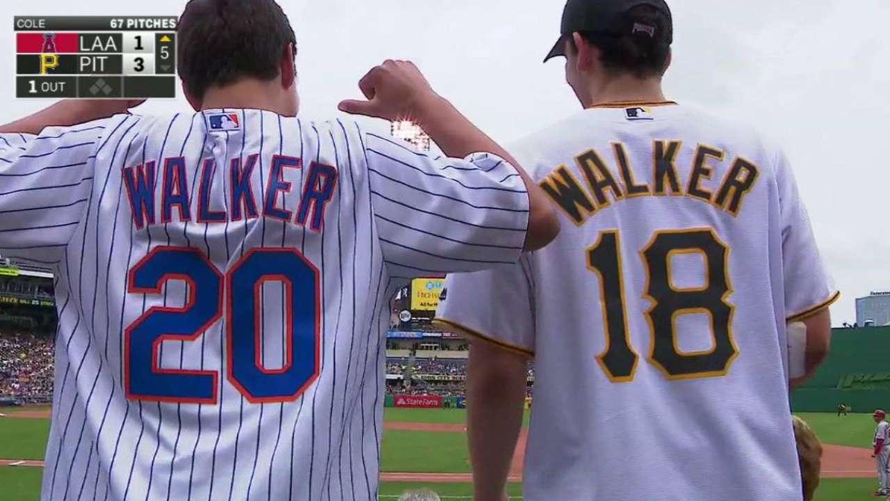 Fans sport Walker jerseys