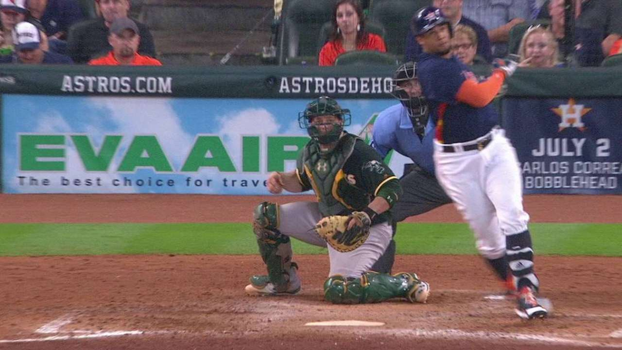 Astros hope first HR sparks Gomez's bat