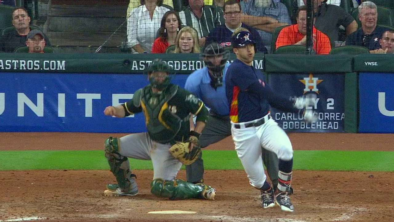 Correa, McCullers lift Astros to sweep of A's