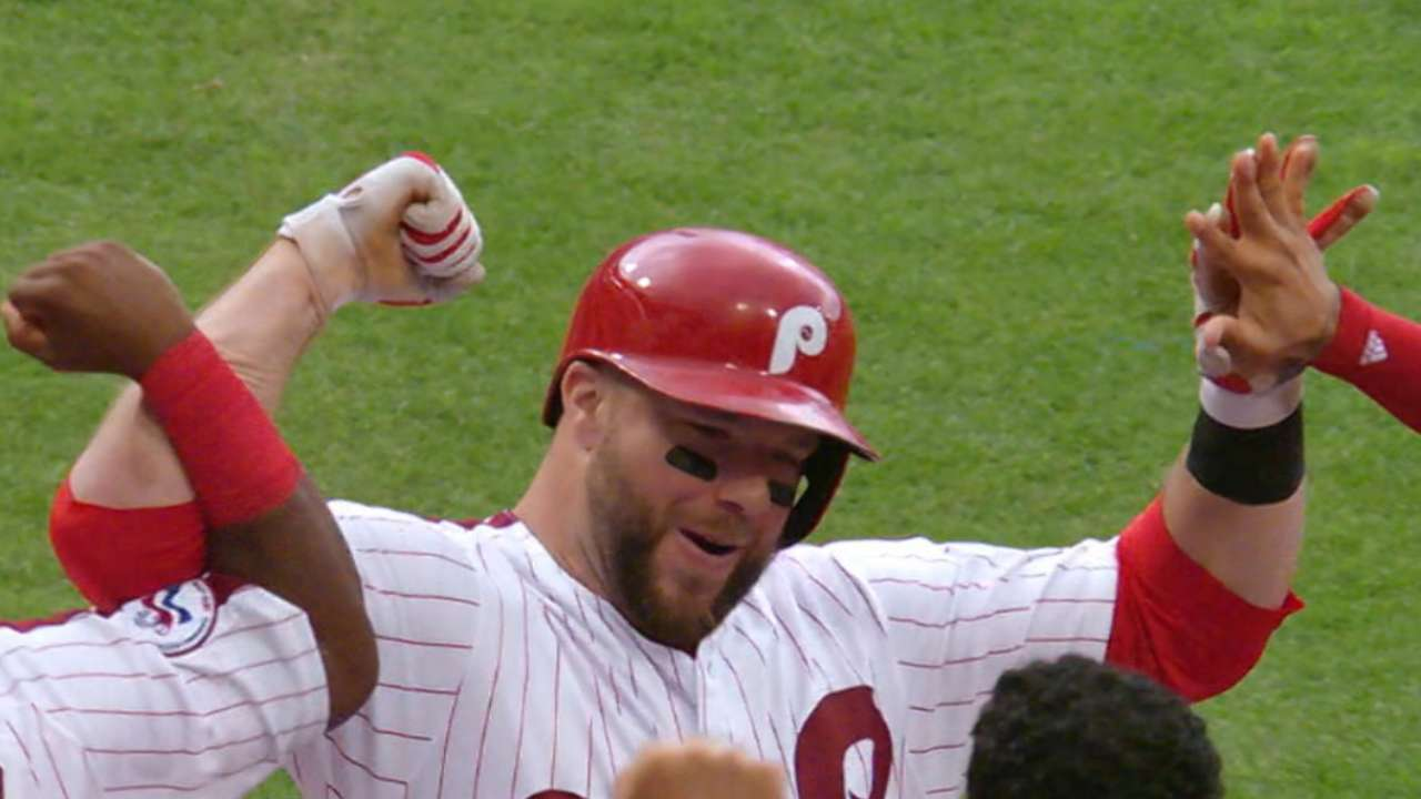 From top to bottom, Phils bats ignite vs. Crew