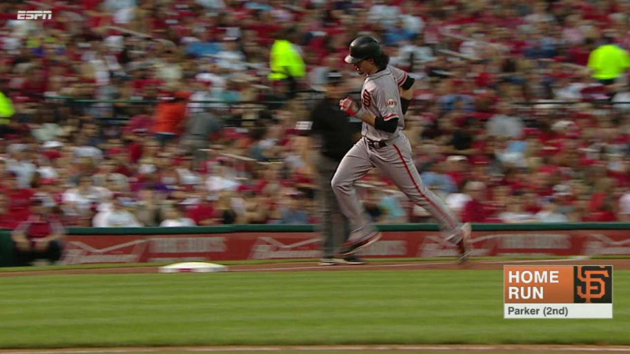 Parker's two-run homer