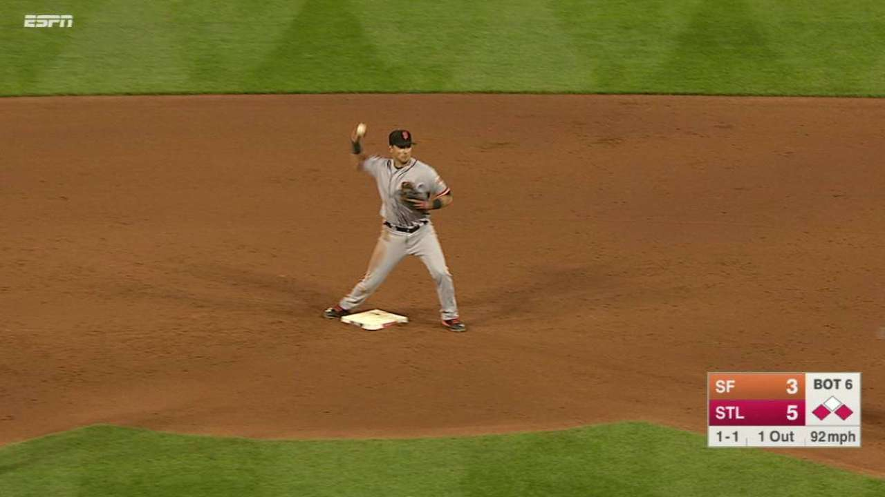 Crawford starts a double play