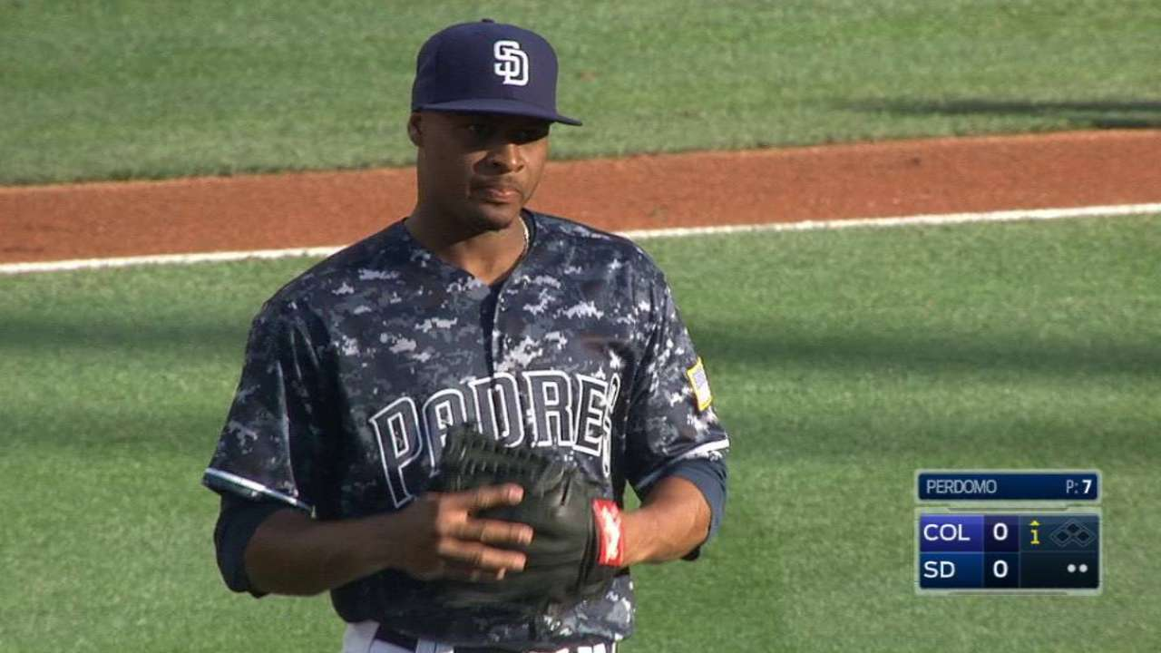 Padres see upside in Perdomo amid struggles