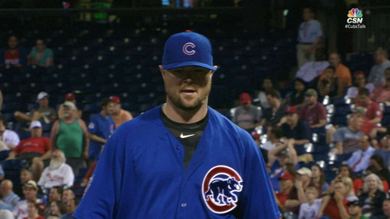 Lester feeling comfortable on, off mound