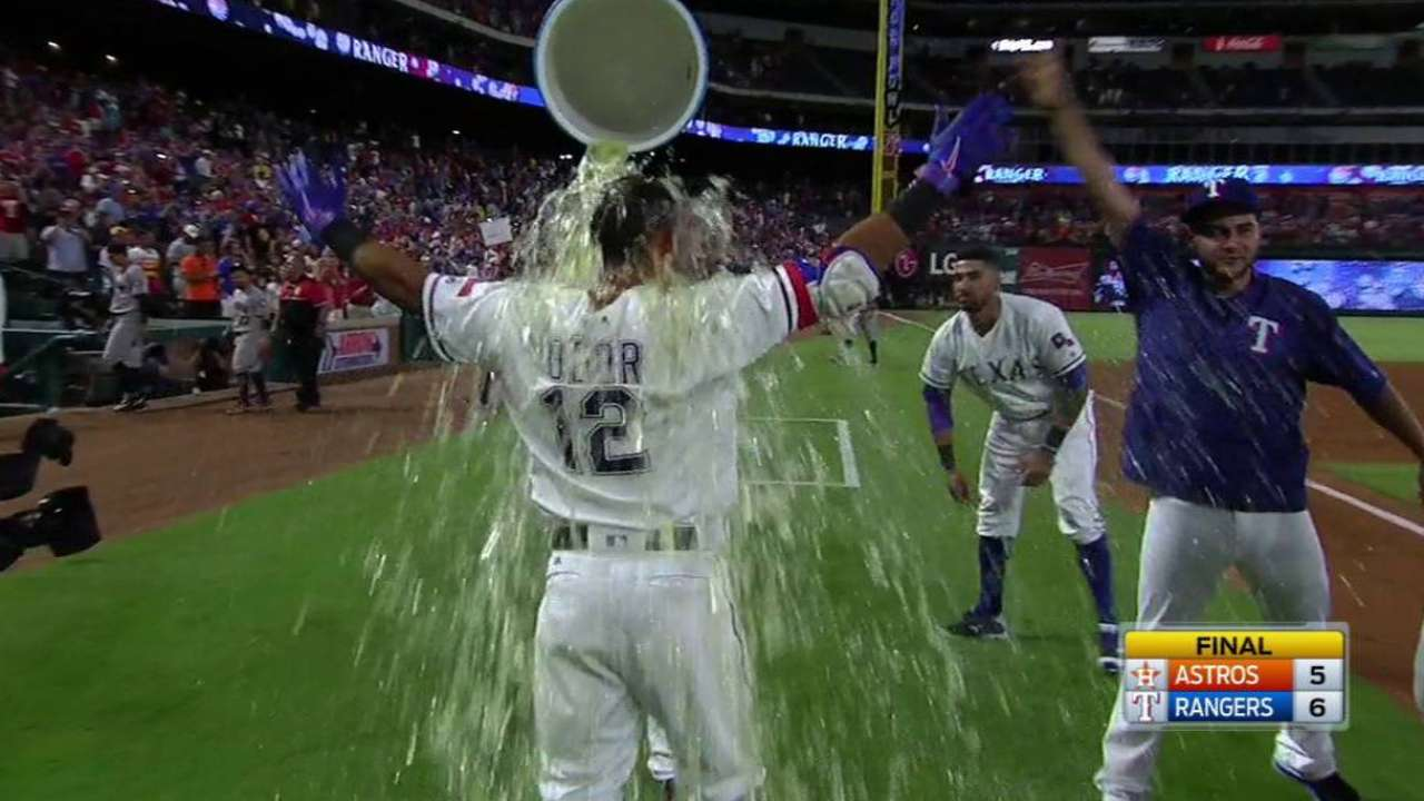 Rangers creating own luck on way to AL's best record