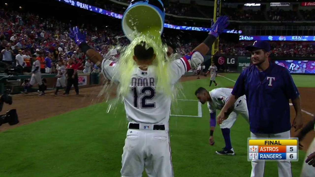 Odor on his walk-off double